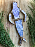 "Porcelain ""Paper-Doll"" Mermaid Wall Hanging"