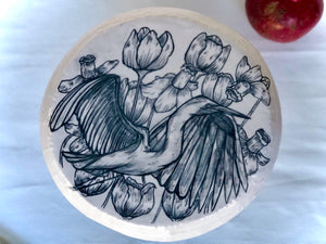 Heron and Floral Cake Stand