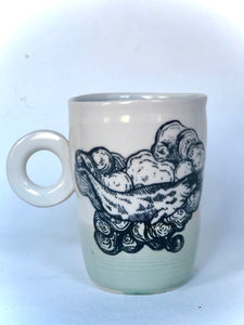 Oceans Bottom Narwhal in Clouds Mug