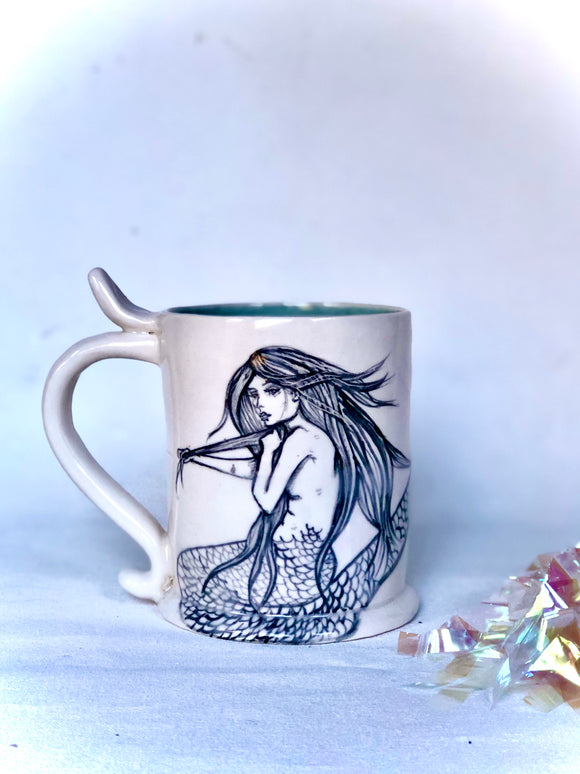 Large Mermaid Stein Mug