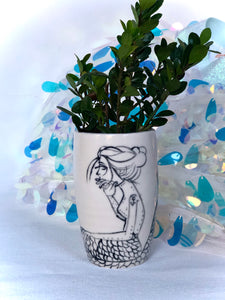 Mermaid Bud Vase