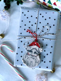 Hand Painted Santa Ornament