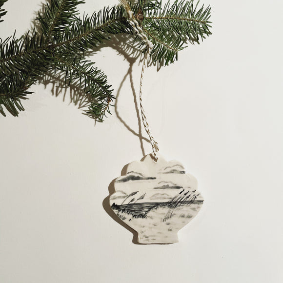 Hand-Painted Ocean Dune Ornament