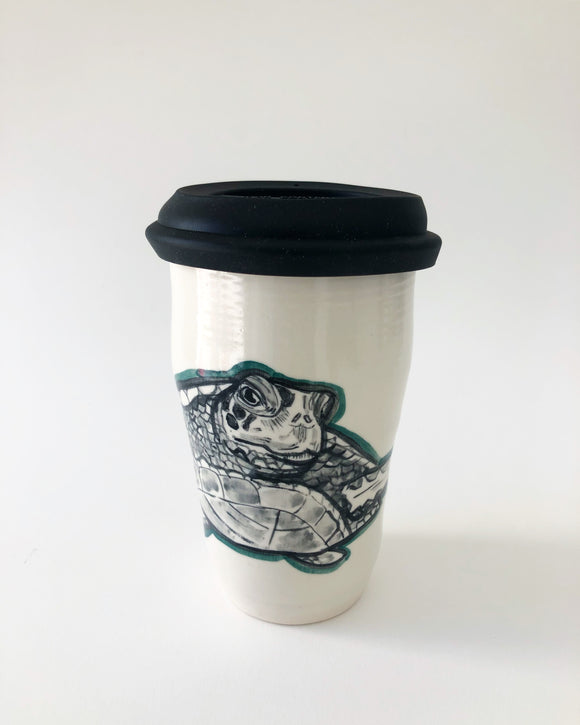 Sea Turtle Travel Mug with Lid