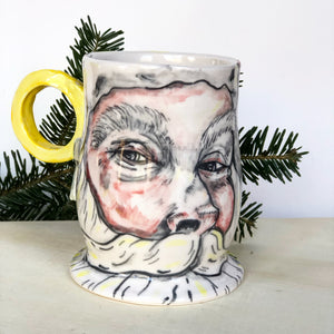 Santa Mug with Antler