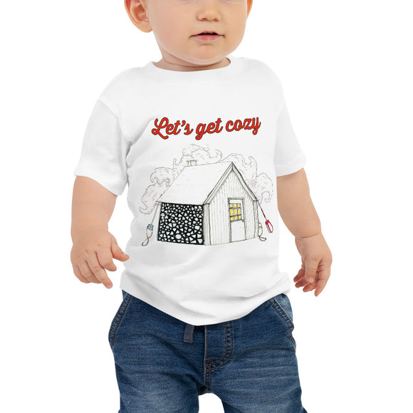Lets Get Cozy Baby Jersey Short Sleeve Tee