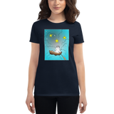 Sailor bunny women's short sleeve t-shirt