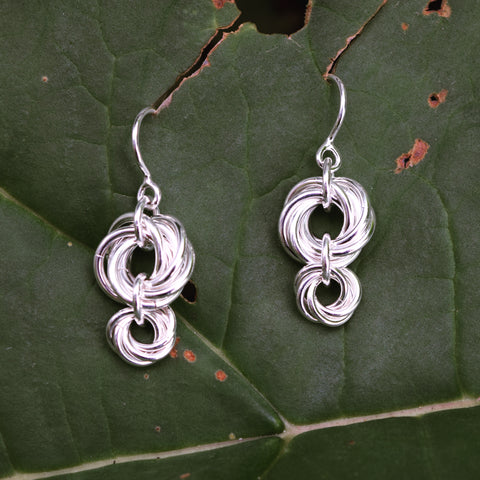Sterling Silver Chain Mail Earrings