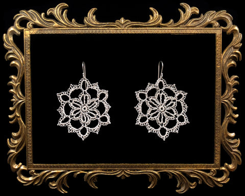 Silver Crochet Earrings