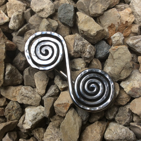 Large Double Spiral Brooch