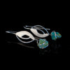 Bespoke Exquisitely Handcrafted Andean Opal sterling silver earrings