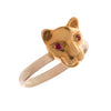 18ct Rose Gold Jaguar Vermeil Ring with Rubies