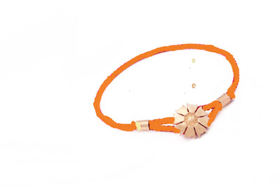 18ct Rose Gold Vermeil Jaguar Flower Caring Bracelet