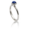 Ladies' Vibrant  925 Sterling Silver Stacking Ring with Sodalite