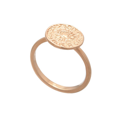 Exotic Ladies' 18ct Rose Gold Vermeil  Peruvian Coin Stacking Ring