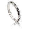Exotic Ladies' Sterling Silver Tribal Pattern Stacking Band