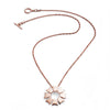 Rose Gold Small Jaguar Flower Pendant Necklace