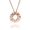 18ct Rose Gold Vermeil Small Jaguar Flower Pendant Necklace