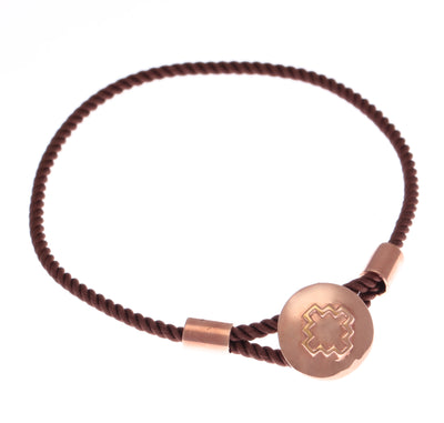 Colourful 18 ct Rose Gold vermeil and 925 Sterling Silver  Chakana Cross Caring Bracelets