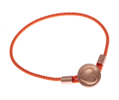 Colourful 18ct Rose Gold Vermeil on Sterling Silver Heart Caring Bracelet
