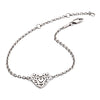 925 Sterling Silver Filigree Heart Bracelet