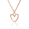 Rose Gold Silhouette Heart Stacking Pendant