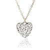 Silver Filigree Heart Stacking Pendant