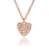 Rose Gold Filigree Heart Stacking Pendant