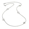 Sterling Silver Five Charm Heart Stacking Necklace