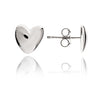 925 Sterling Silver Solid Heart Stud Earrings