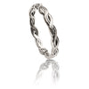 Unisex 925 Sterling Silver Plaited Stacking Ring