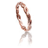 18ct Rose Gold Vermeil Plaited Stacking Ring