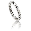 Exotic Ladies Sterling  Silver  Lattice Stacking Ring