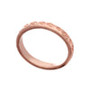 Exotic   Unisex 18ct Rose Gold Vermeil Square Pattern Stacking Ring