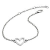 Ladies/Girls  925 Sterling Silver Silhouette Heart Bracelet