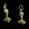 Handcrafted Sterling Silver Serpentine Earrings