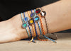 Colourful Festival Sterling Silver Water Feline Spirit Cord bracelet