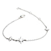 925 Sterling Silver Three Star  Charm Bracelet