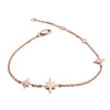 18ct Rose Gold Vermeil Three Star  Charm Bracelet
