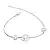 925 Sterling Silver Three  Circle of Life  Star Charm Bracelet