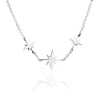 925 Sterling Silver Three Star Charm Necklace