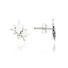 925 Sterling Silver Double Star Stud earrings