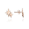 18ct Rose Gold Vermeil Double Star Stud Earrings