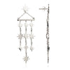 Sterling Silver  Starburst Chandelier Earrings