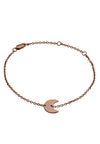 18ct Rose Gold Vermeil Crescent Moon Charm Bracelet