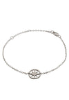 925 Sterling Silver Circle of Life  Star Charm Bracelet