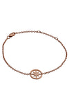 18ct Rose Gold Vermeil Circle of Life Star Charm Bracelet
