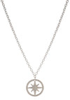 925 Sterling Silver Circle of Life Star Charm Pendant Necklace