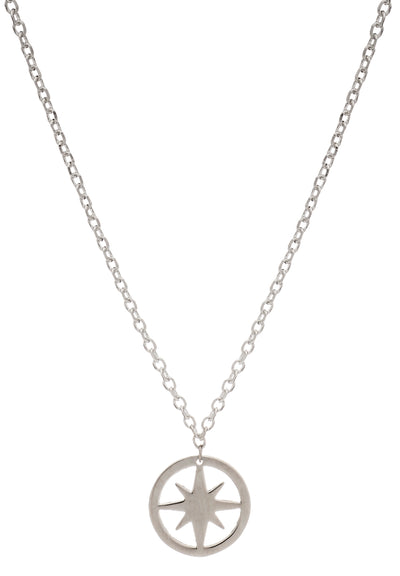 Sterling Silver Circle of Life Star Charm Pendant Necklace