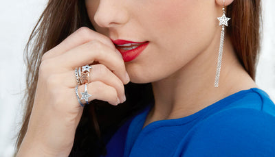Dainty Sterling Silver  Filigree Star Ring